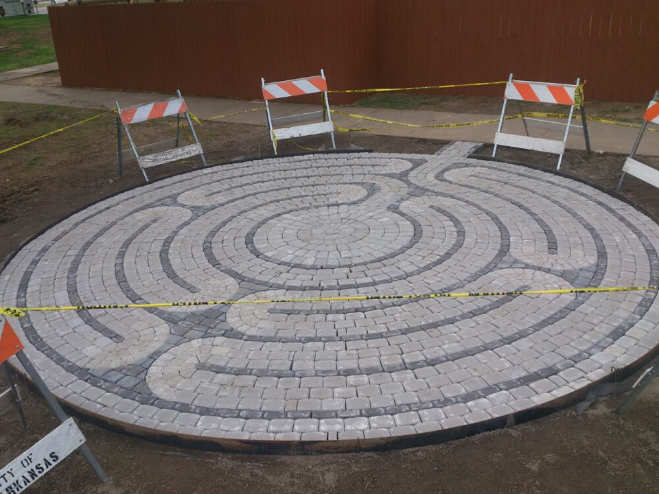 The new EDGE Labyrinth outside State Hall